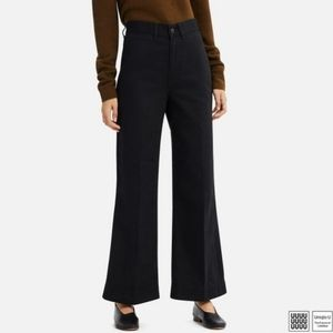 UNIQLO high waisted wide leg jeans